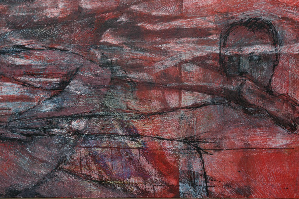 'Long Painting' detail. 2012/15