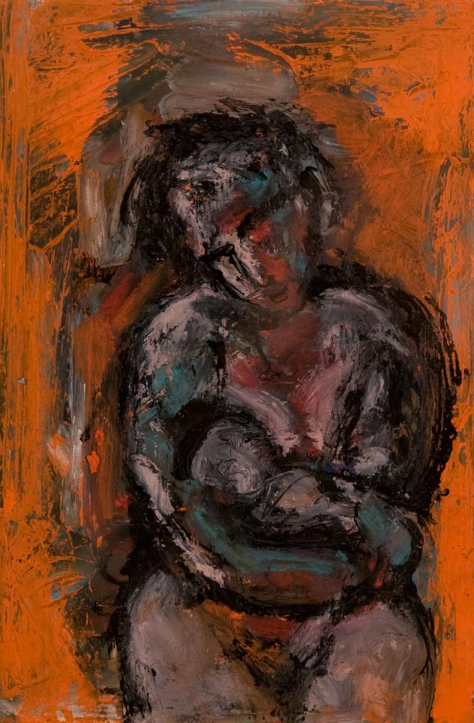 A Lullaby and a Lament, by Ricky Romain (2007, oil and ink on paper, private collection).