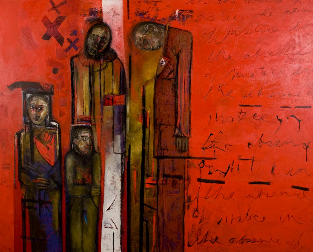 Immigrant Dreams, by Ricky Romain (2000-2007, oil on canvas, 208cm x 180cm, £8250).
