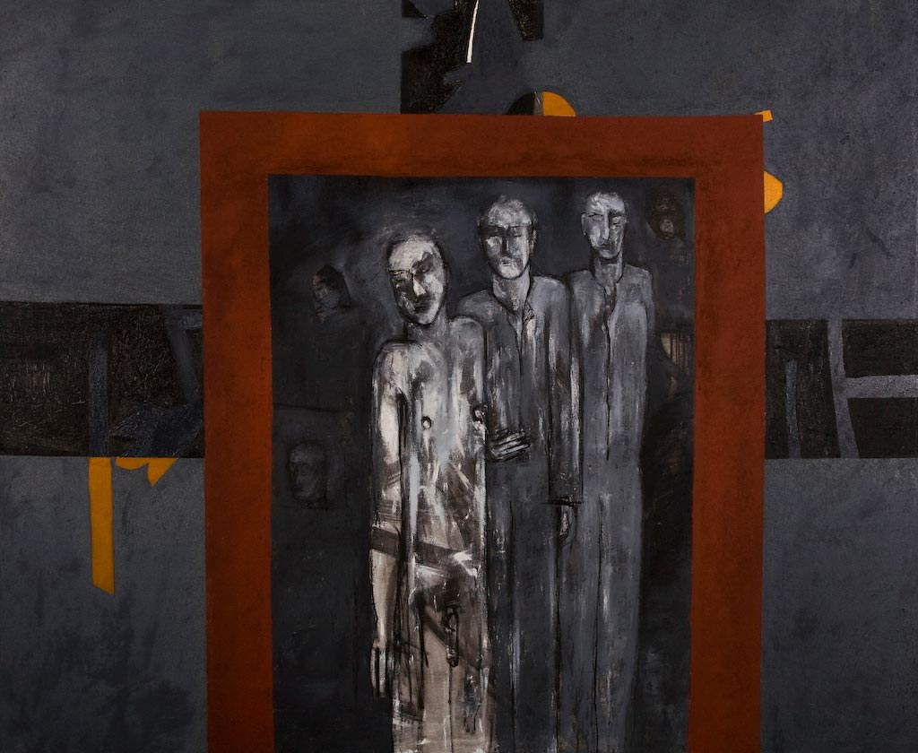 In the Absence of Justice, by Ricky Romain (2006, oil on canvas, 189cm x 156cm, £4500).