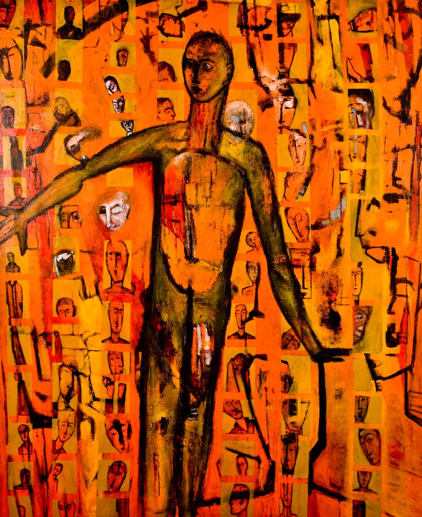 Out of Place, by Ricky Romain (2002/2003, oil on canvas, 177cm x 146cm, £3500).