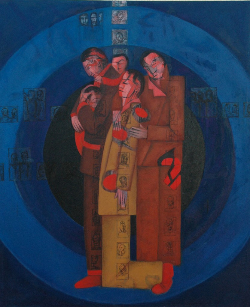 Targets by Ricky Romain (2011/12 oil on canvas !56cm x 130cm £3000.)