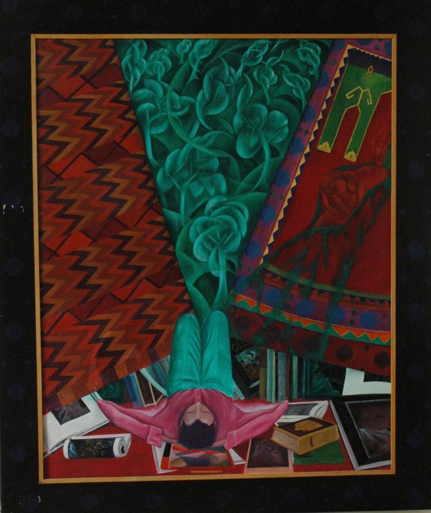 Russian Poet by Ricky Romain. oil on canvas 165cm x140ocm 1988