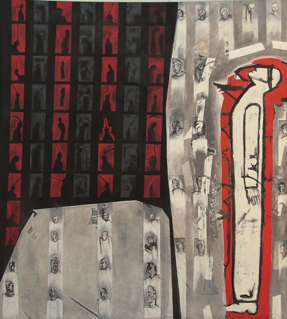 Without Power, Without Voice, by Ricky Romain (2005 oil on canvas 198cm x 178cm Private Collection)