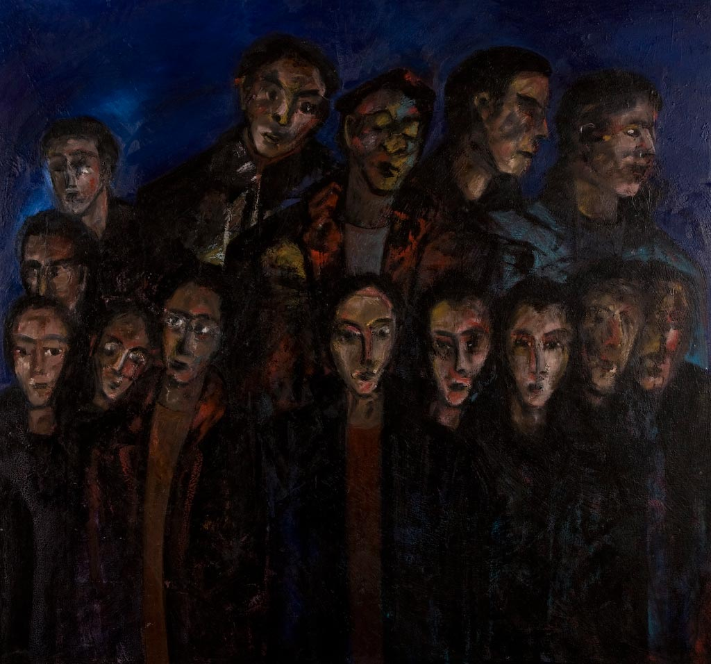 Bid for Freedom, by Ricky Romain (2000-2002, oil on canvas, 133cm x126cm, private collection).