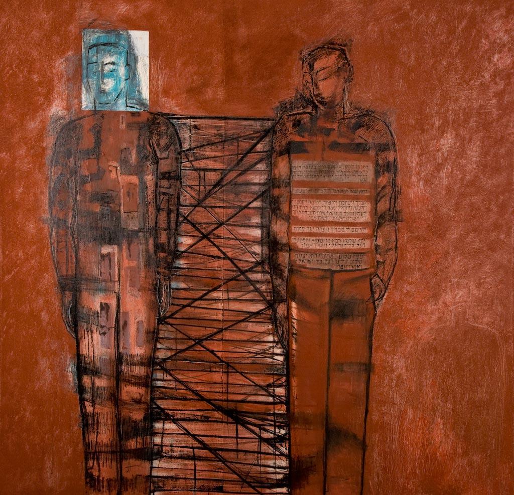 Kaddish, by Ricky Romain (2004/2005, oil on canvas, 157cm x 152cm, not for sale).