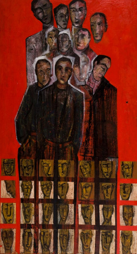 Searching for Relatives, by Ricky Romain (1999/2003, oil on door, 139cm x 76cm, £1500).